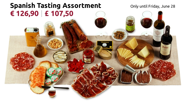 Tasting assortment of Spanish products for 5-6 people