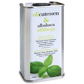 Organic Olive Oil with Basil Olicatessen 250 ml