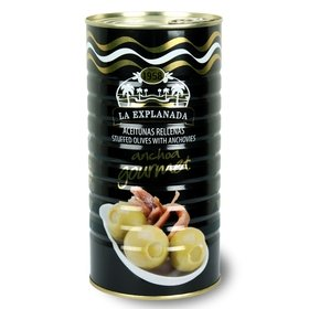 Green Olives Stuffed with Anchovies La Explanada 1440 gr