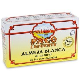 Almejas blancas al natural de las Rías Gallegas Paco Lafuente 14/16 uds. 115 gr