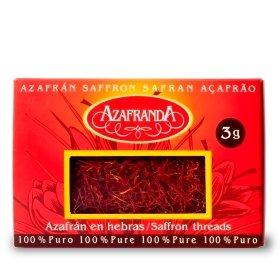 Pure Saffron threads Azafranda, 3-Grams Box