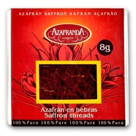 Pure Negin Saffron threads Azafranda, 8-Gram Box