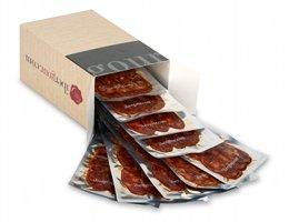 Caja con Chorizo ibérico de bellota de Extremadura en lonchas