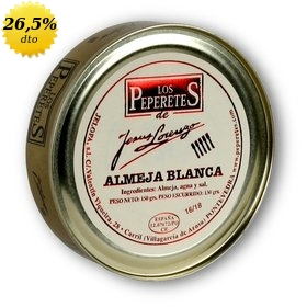 Almejas blancas Los Peperetes 16/18 uds. 150 gr