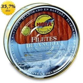Filetes de anchoa del Cantábrico en aceite de oliva Hoya 500 gr