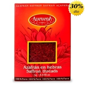Azafrán puro en hebras Azafranda, 1 gr