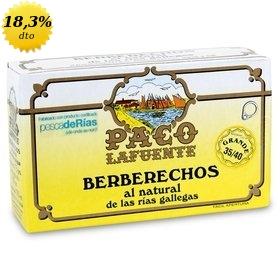 Berberechos al natural de las Rías Gallegas Paco Lafuente 35/40 uds. 115 gr