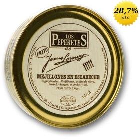 Mejillones en escabeche Los Peperetes 10/12 uds. 150 gr