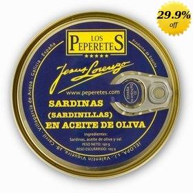 Sardines in olive oil Los Peperetes 150 gr (sardinillas)