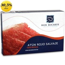 Ventresca de atún rojo salvaje con escamas de sal Don Bocarte 215 gr
