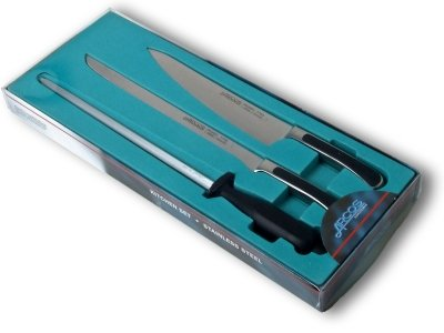 Saeta ham carving set, in its plastic-covered cardboard box